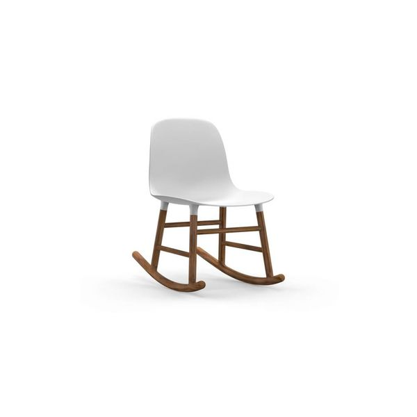 Normann Copenhagen Form Rocking Chair Full Upholstery Walnut legs