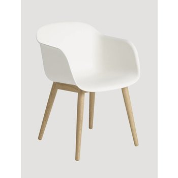 Muuto showroom model Chair normal shell woodbase Natural White/Oak