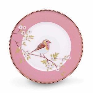 Pip studio Floral ontbijtbord early bird 21 cm roze