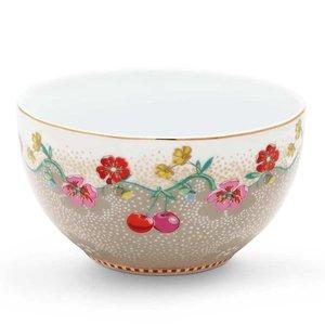 Pip studio Floral kom cherry 12 cm khaki