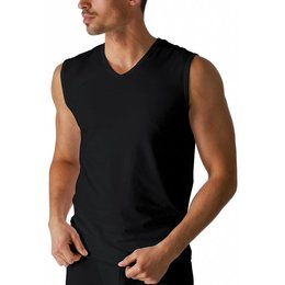 Mey Dry Cotton Sleeveless Shirt Black