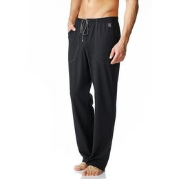 Mey Cotton Rib Long Pants Black