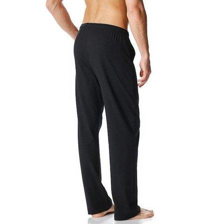 Mey Cotton Rib Long Pants Black
