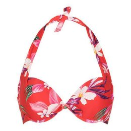 LingaDore Beach Japanese Flower Halter Neck Bikini Japanese Flower Print
