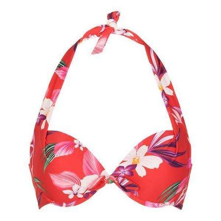 LingaDore Beach Japanese Flower Halter Neck Bikini Japanese Flower Print