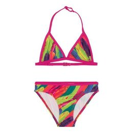 LingaDore Beach Rainbow Bikini for Girls Feather Print