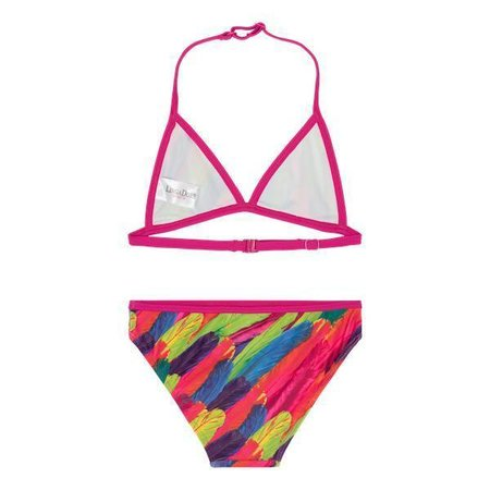 LingaDore Beach Rainbow Bikini for Girls Feather Print