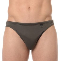 HOM Beach Fun Marina Swimbriefs Khaki Green