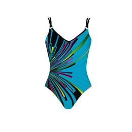 Sunmarin Valparaiso Bathing Suit Black Turquoise