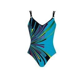 Sunmarine Valparaiso Bathing Suit Black Turquoise