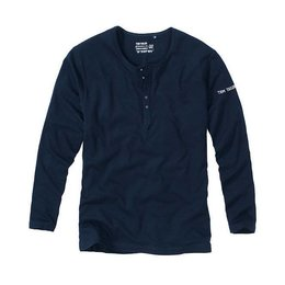 Tom Tailor Bottoms-Down Shirt Long Sleeves Navy
