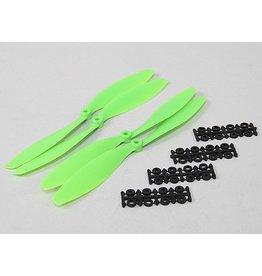 "GWS 10"" 45 Slo Fly Propeller set Groen (4 stuks)"