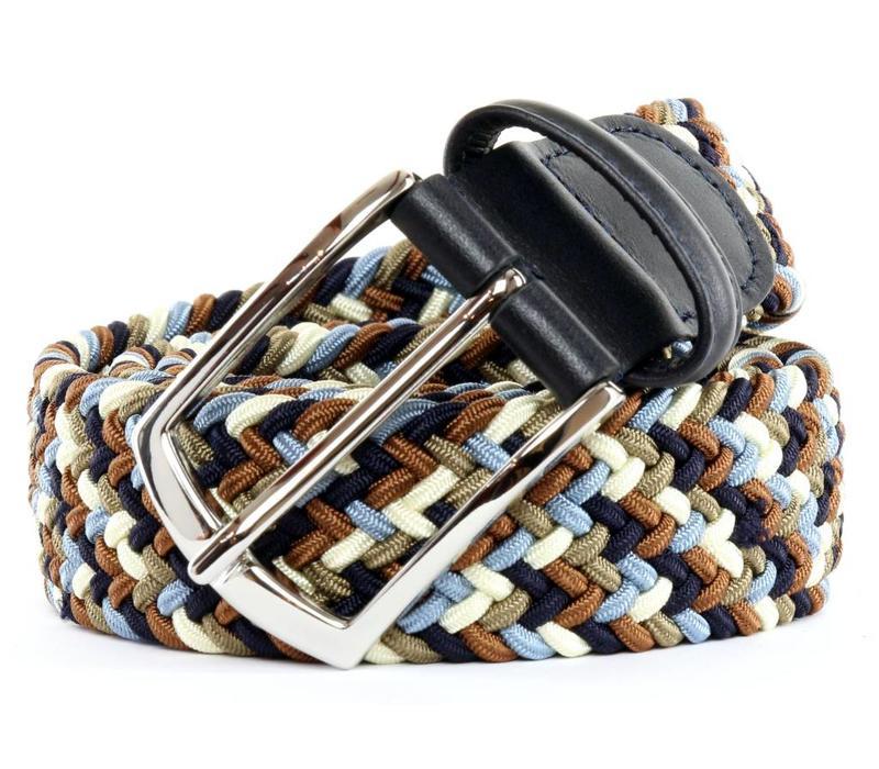 Anderson's Belt Multicolor Blue