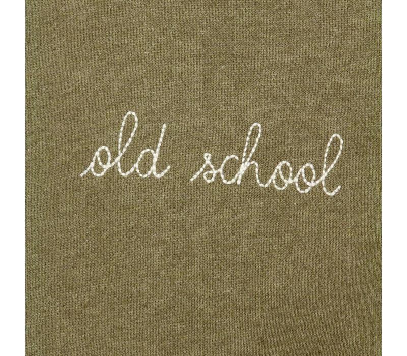 Maison Labiche Sweater Old School Olijfgroen