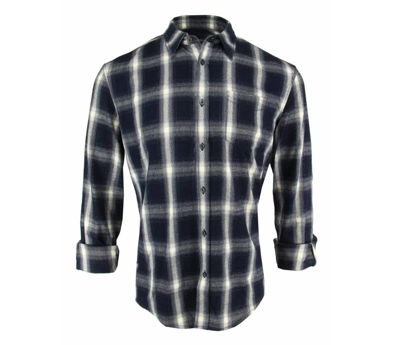 Drykorn Shirt Kolor Navy Checkered