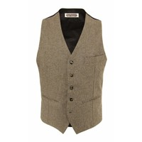 Four.Ten Industry Wool Waistcoat Brown