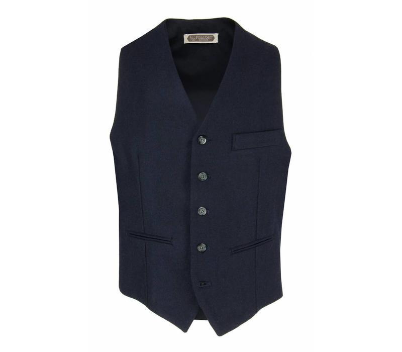 Four.Ten Industry Wool Waistcoat Navy