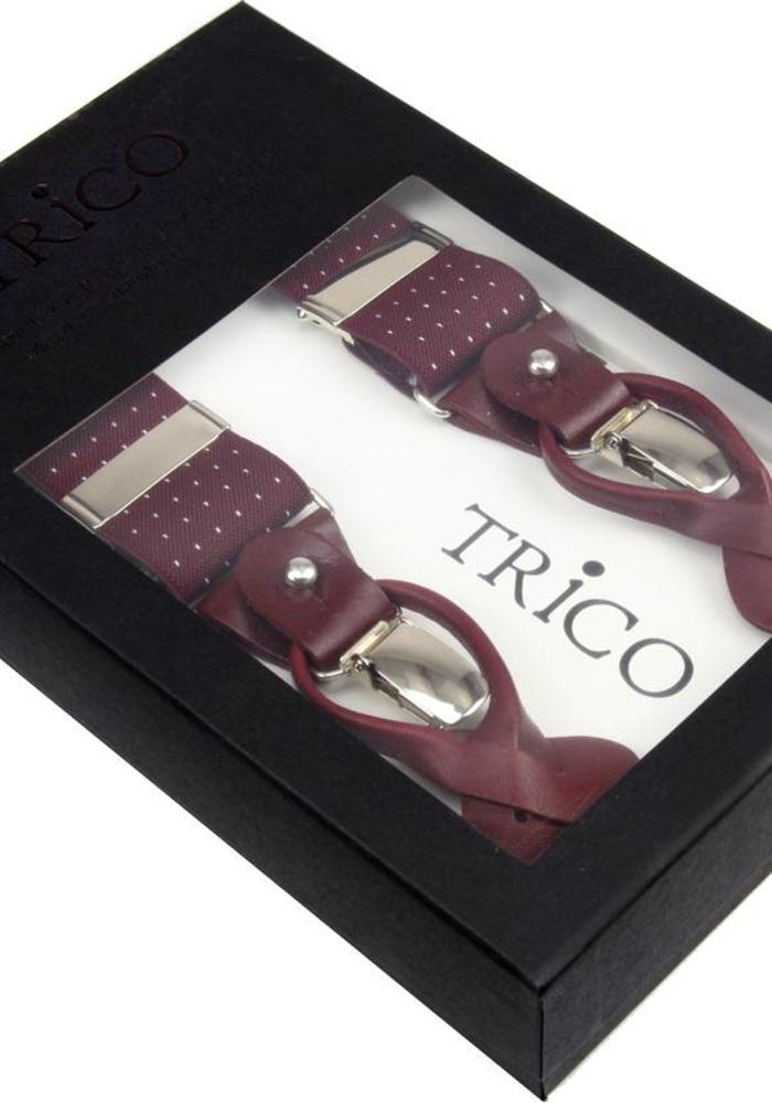 Trico Bretels Bordeaux Stippen