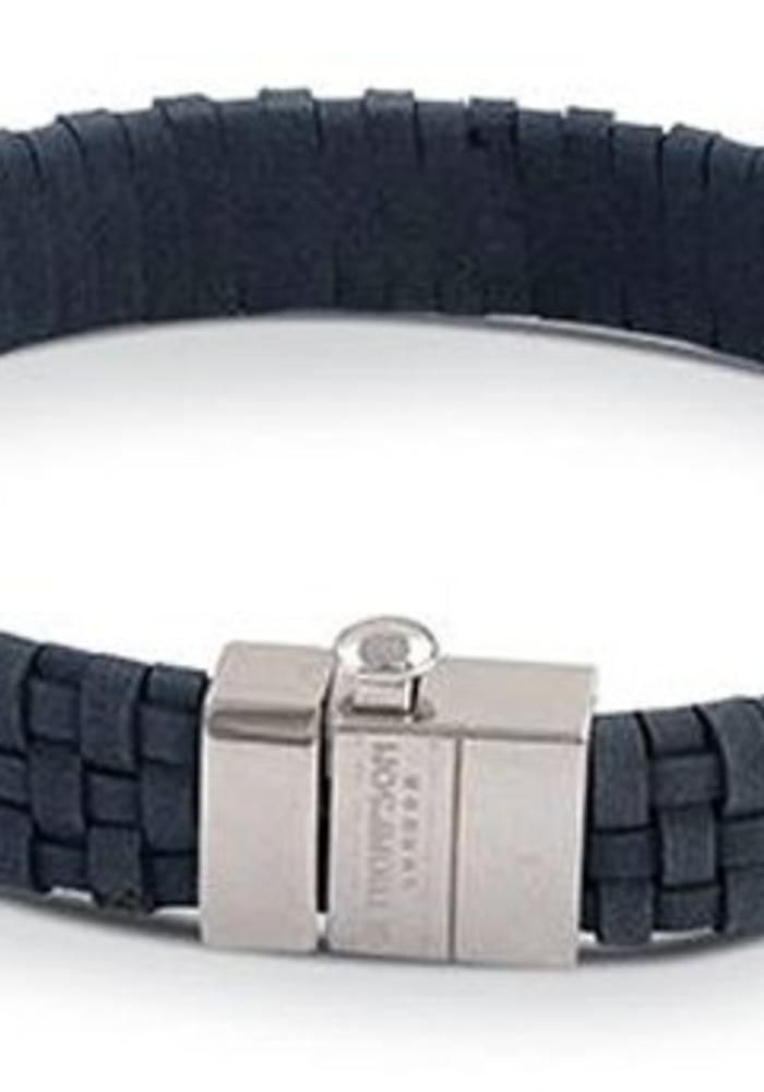 Thompson London Bracelet Woven Leather Blue L