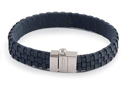 Thompson London Thompson London Bracelet Leather Woven Brown M