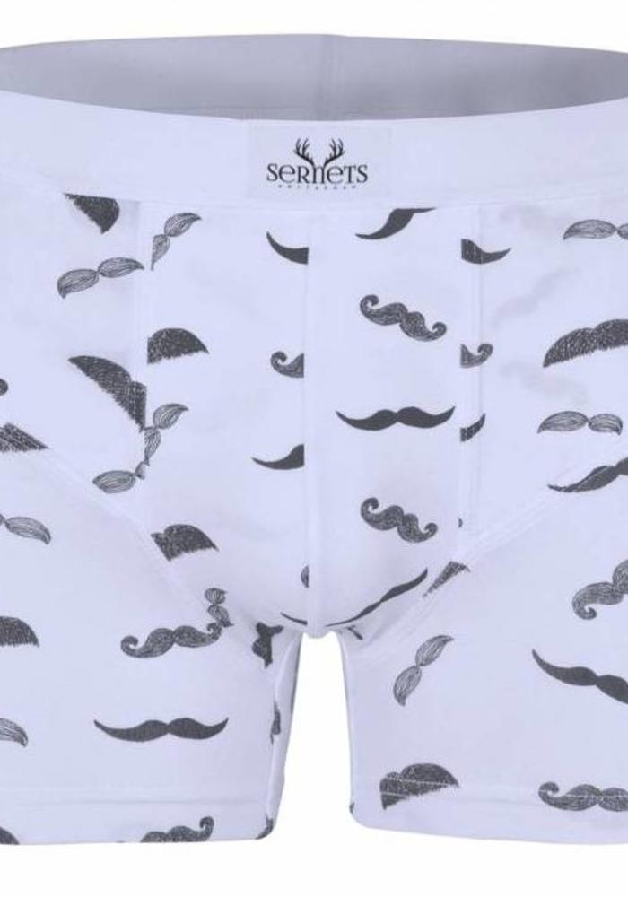 Sernets Amsterdam Boxershort 2-Pack Moustache / Clocks