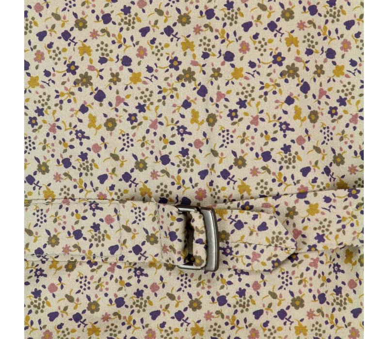 Bertoni Waistcoat Flowerprint Corduroy Navy