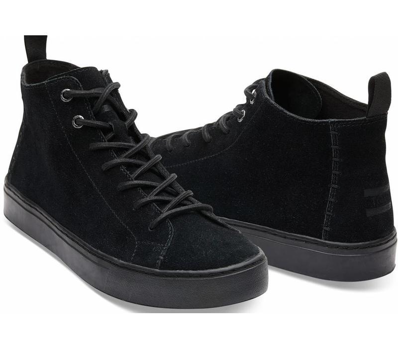 Toms Sneakers Lenox Mid Zwart Suède