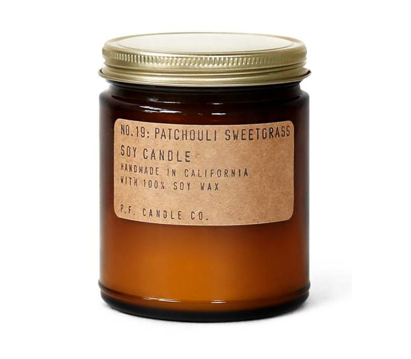 P.F. Candle Co. No. 19 Patchouli Sweetgrass 7.2 oz