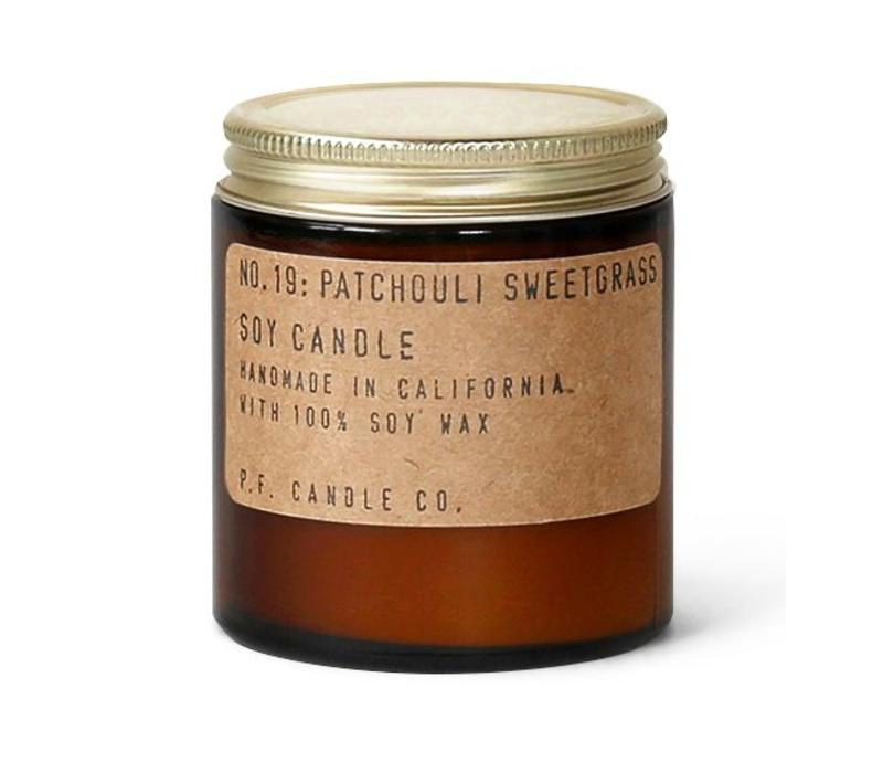 P.F. Candle Co. No. 19 Patchouli Sweetgrass 3.5 oz