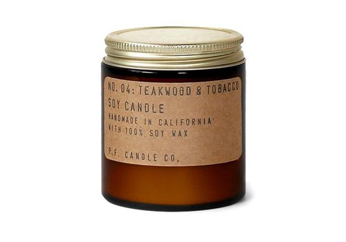 P.F. Candle Co. Geurkaars No. 04 Teakwood & Tobacco - klein