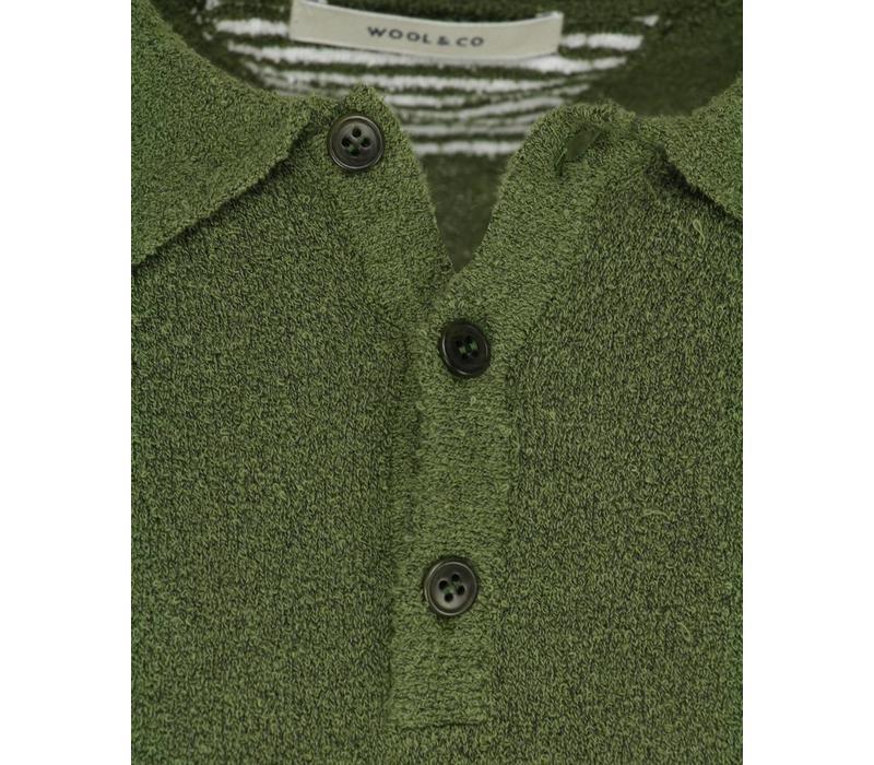 Wool & Co. Polo Terry Groen
