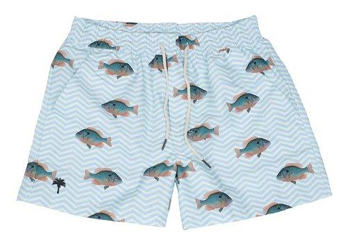 OAS OAS Zwemshort Blue Fish