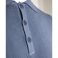 Wool & Co. Polo Staalblauw