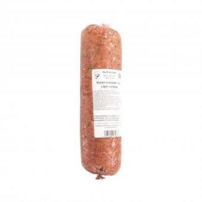Konijn compleet - 100 % GLUTENVRIJ vers vlees, Ideaal voor de voedsel gevoelige en voedsel allergische hond. Bevat 57% Konijnen spiervlees.