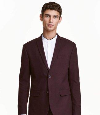 H&M Bordeaux Slim Blazer