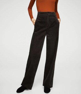 Mango Black Ribbed Pants