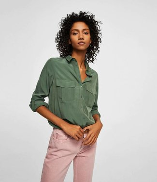 The Sting Blouse Army Green