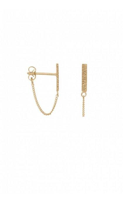 Anna + Nina Herringbone Chain Earring
