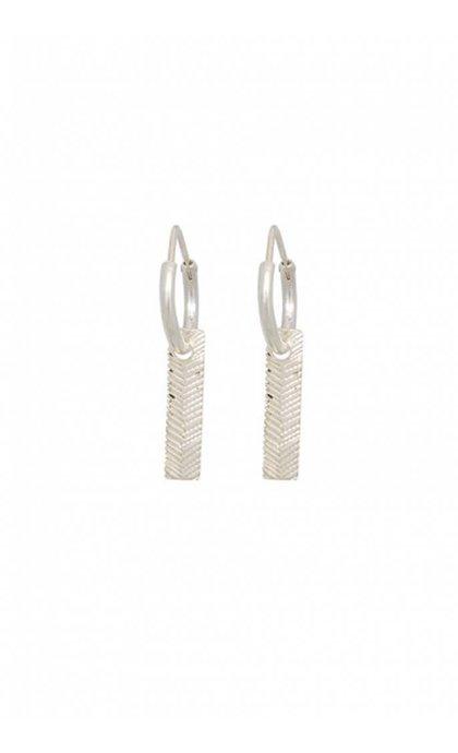 Anna + Nina Herringbone Ring Earring
