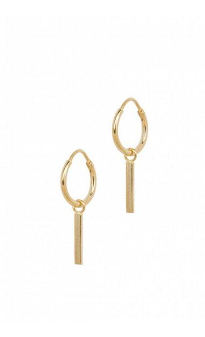 Anna + Nina Ingot Ring Earring Goldplated