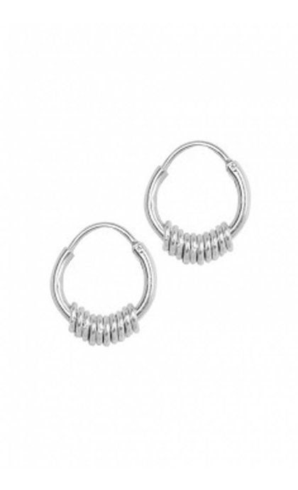 Anna + Nina Multi Ring Earring Silver