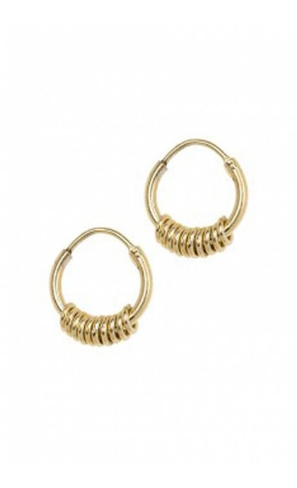 Anna + Nina Multi Ring Earring Goldplated