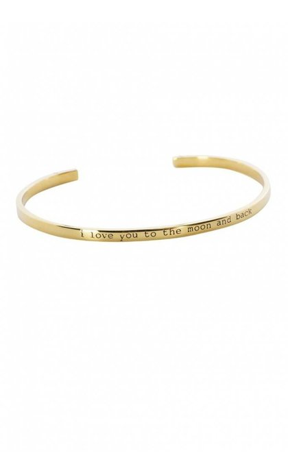 Anna + Nina Nina Cuff To The Moon Goldplated