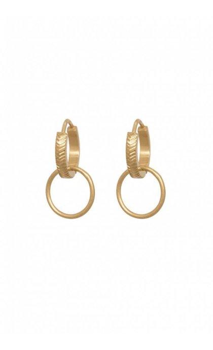 Anna + Nina Herringbone Hoop Earring