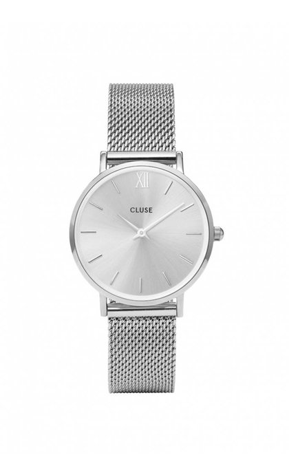 Cluse Minuit Mesh Full Silver