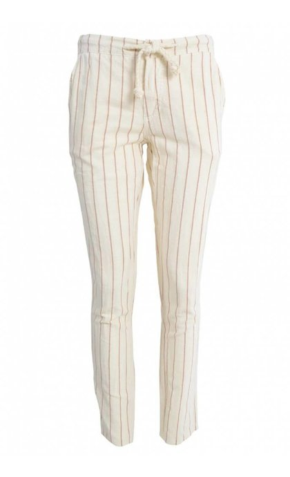 Indi & Cold Linen Striped with Drawstring Crudo