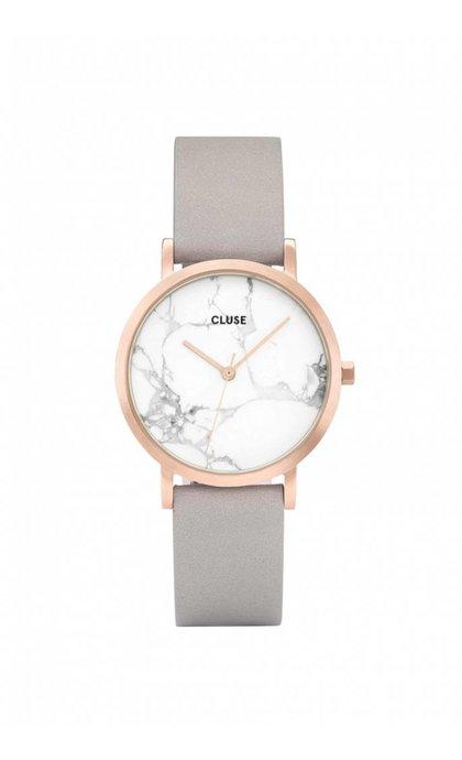 Cluse La Roche Petite Rose Gold White Marble/Grey