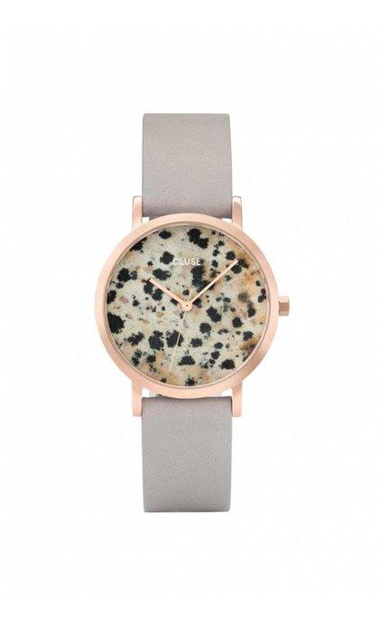Cluse La Roche Petite Rose Gold Dalmatian/Grey