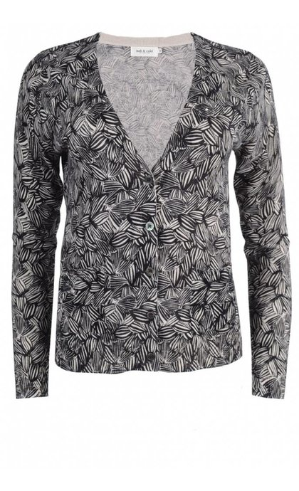 Indi & Cold Rustic Print Vest Zwart