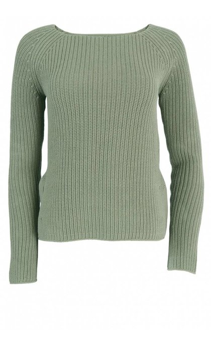 Hunkydory Boyd Knit Jumper Light Army